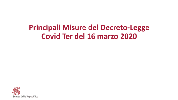 Covi per decreto 16 marzo 2020